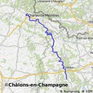 Véloroute de la Meuse - Montcy-Notre-Dame > Genicourt-sur-Meuse