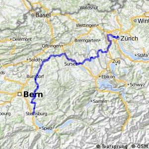 rcn 84 - Mittelländer Hügelroute (Thun (Heimberg)-Zürich)