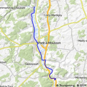 """Véloroute """"Charles le Téméraire"""" - Novéant-sur-Moselle > Custines"""
