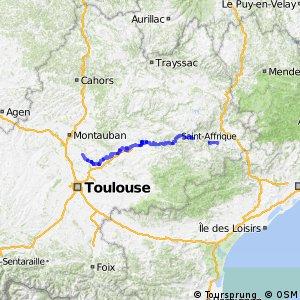 Véloroute Montauban Quissac