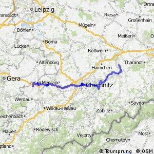 Sächsische Städteroute [Crimmitschau↔Freiberg]