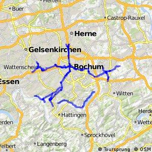 Radverkehrsnetz NRW, Stadt Bochum