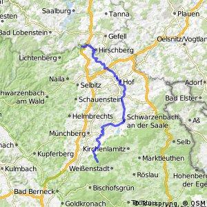 Saale-Radweg 1. Quelle-Rudolphstein