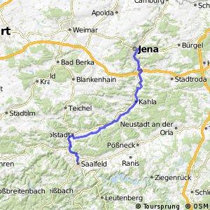 Saale-Radweg 4. Saalfeld-Jena