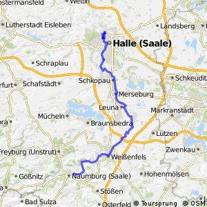 Saale-Radweg 6. Naumburg-Halle (Saale)
