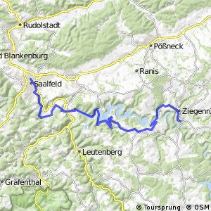 Saale-Radweg 3. Ziegenrück-Saalfeld