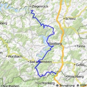 Saale-Radweg 2. Rudolphstein-Ziegenrück