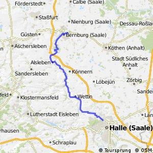 Saale-Radweg 7. Halle (Saale)-Bernburg