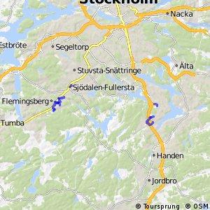 Regionalt cykelnät Stockholm (lokala destinationer i Huddinge)