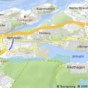 Regionalt cykelnät Stockholm (lokala destinationer i Nacka)