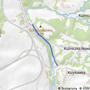 Czarny Szlak Rowerowy - Okradzionów - Krzykawka