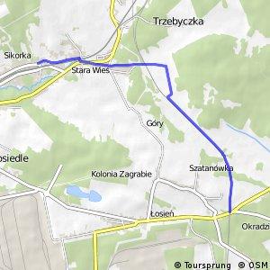 Czarny Szlak Rowerowy - Sikorka - Okradzionów