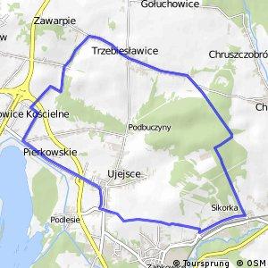 Czarny Szlak Rowerowy - Ujejsce