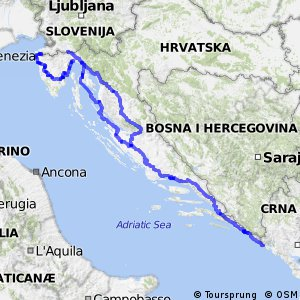 EuroVelo 8 - part Croatia