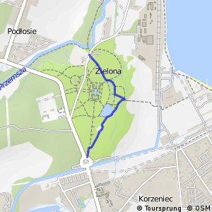 Czarny Szlak Rowerowy - Zielona
