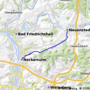 Radroute Neckarsulm-Neuenstadt