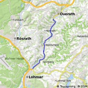 Radverkehrsnetz NRW, Lohmar - Kreuznaaf - Overath