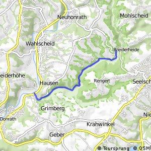 Radverkehrsnetz NRW, Kreuznaaf - Seelscheid