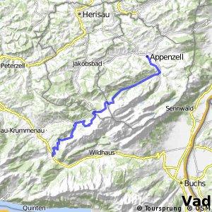 Panorama Bike - Etappe 03 (Appenzell-Stein SG)
