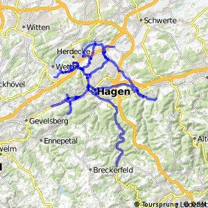 Radverkehrsnetz NRW, Stadt Hagen