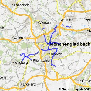 Radverkehrsnetz NRW, Stadt Mönchengladbach