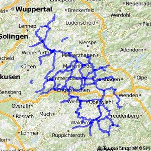 Radverkehrsnetz NRW, Oberbergischer Kreis