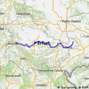 Radfernweg Thüringer Städtekette