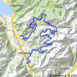 rcn 68MTB - Alpes de la Région du Léman Bike (Aigle- St Maurice)