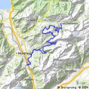 rcn 68MTB - Alpes de la Région du Léman Bike (Etape 2 Les Diablerets - St-Maurice )
