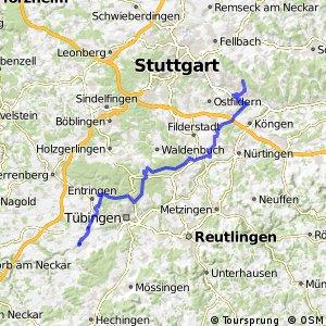 Hohenzollern-Weg Abschnitt Esslingen-Rottenburg