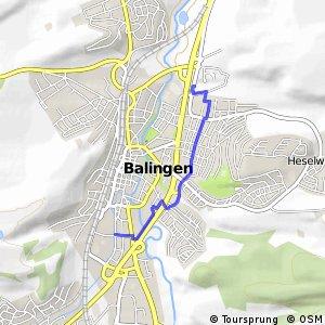 Hohenzollern-Weg Alternativroute Balingen
