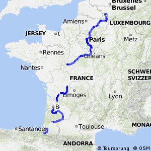 La route des pèlerins - portion France
