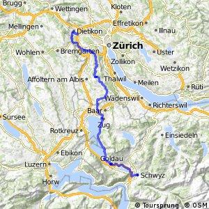 rcn 51 - Säuliamt–Schwyz (Zürich–Schwyz)