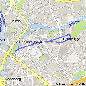 Aftakking naar Gentbrugge