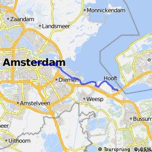 IJdijkenroute Oost (Amsterdam - Muiderberg)
