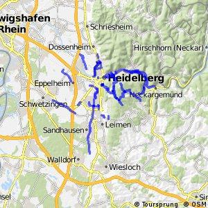 Radverkehrsnetz BW, Stadt Heidelberg