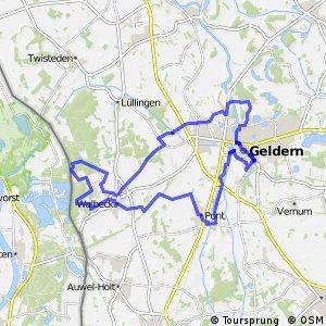 Geldern-Route, Grün