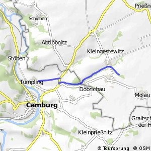 Radroute Seidewitz-Camburg