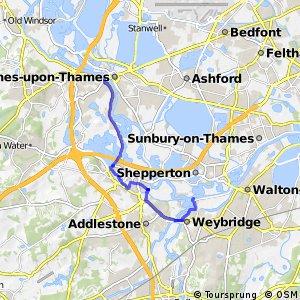 National Cycle Network route 4 Chertsey/Weybridge braid