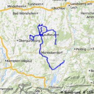 Radverkehrsnetz Kreis Ostallgäu und Kaufbeuren