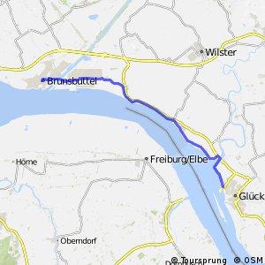 [D10] Elberadweg [Abschnitt A] Brunsbüttel - Brokdorf [rechtselbisch]