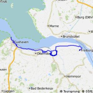 [D10] Elberadweg [Abschnitt A] Cuxhaven - Freiburg (Elbe) [linkselbisch]
