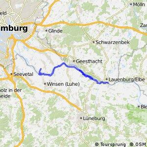 [D10] Elberadweg [Abschnitt D] Ochsenwerder - Lauenburg [linkselbisch]