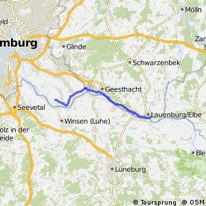 [D10] Elberadweg [Abschnitt D] Ochsenwerder - Lauenburg [rechtselbisch]