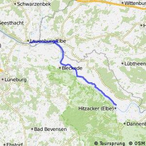 [D10] Elberadweg [Abschnitt E] Lauenburg - Hitzacker [rechtselbisch]