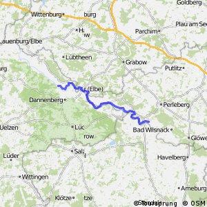 [D10] Elberadweg [Abschnitt F] Hitzacker - Wittenberge [rechtselbisch]