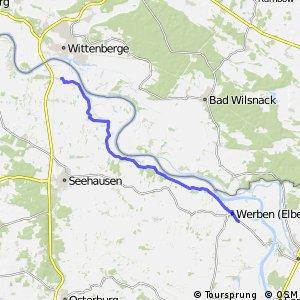 [D10] Elberadweg [Abschnitt G] Wittenberge - Havelberg [linkselbisch]