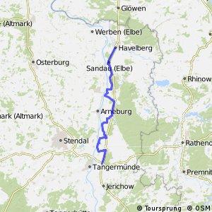 [D10] Elberadweg [Abschnitt H] Havelberg - Tangermünde [rechtselbisch]