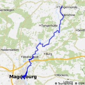 [D10] Elberadweg [Abschnitt I] Tangermünde - Magdeburg [rechtselbisch]