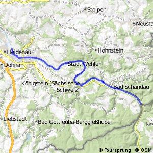 [D10] Elberadweg [Abschnitt O] Heidenau - Schöna [rechtselbisch]